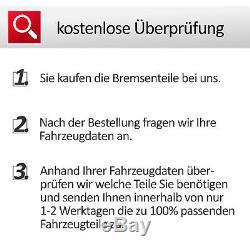VW GOLF 5/6 ZIMMERMANN SPORT BREMSEN SET 2 BREMSSCHEIBEN Ø 288 mm+4 BREMSBELÄGE
