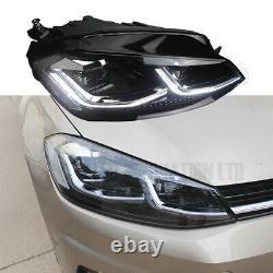 VW GOLF MK7.5 Chrome HEAD Lamps LED DRL BI XENON GTD SWIPE SEQUENTIAL INDICATOR