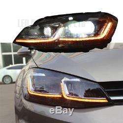 VW GOLF MK7 MK7.5 HEAD Lamps LED DRL BI XENON GTD SWIPE SEQUENTIAL INDICATOR UK