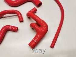 VW Golf 3 GTI 2.0 8V 115PS 2E Wasser Schlauch Silikonschlauch Kit rot