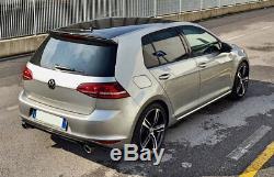 VW Golf 7 GTI LOOK Kit Sottoparaurti con Doppio Scarico Sportivo Ulter O 90 mm