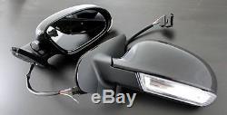 VW Golf Jetta MK4 4 MK5 5 Look Euro Sport Mirrors LED Turn Signals Side Marker