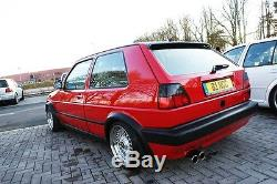 VW Golf MK2 2 Rabbit 16V GTI Euro Big Rear Bumper Textured Conversion kit Votex