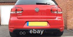 VW Golf MK6 6 GTI Style Lower Rear Bumper Spoiler Lip Sport Valance Diffuser GT
