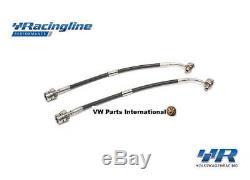 VW Golf MK7 GTI R RacingLine Front & Rear Braided Brake Hoses Lines VWR Racing