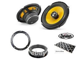 VW Golf Mk4 GTi 6.5 Front door speaker upgrade kit from JL Audio Dynamat