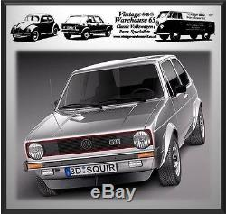 Volkswagen Golf Mk1 & Gti Full Set Front & Rear Red Automatic Seat Belt Kit