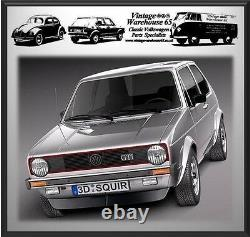 Volkswagen Golf Mk1 Mk2 & Gti Full Set Front Rear Automatic Seat Belt Kit Black