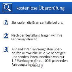 Vw Golf 5/6 V/vi Ate Bremsen Kit + 4 Scheiben + 8 Bremsbeläge Für Vorne + Hinten