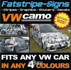 Vw Golf Car Camo Kit Vinyl Graphics Stickers Decals Bonnet Roof Volkswagen Gti 1
