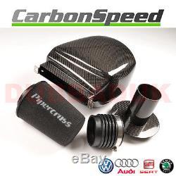 Vw Golf Mk6 2.0 Gti Carbon Air Box Induction Intake Kit + Pipercross Filter