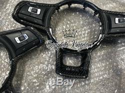 Vw golf r gti mk7 mk7.5 carbon fiber steering wheel -kit lip bar gt wing spoiler