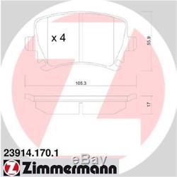 ZIMMERMANN BREMSEN 4 BREMSSCHEIBEN 8 BREMSBELÄGE VORNE HINTEN VW Passat CC