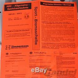 ZIMMERMANN BREMSSCHEIBEN+ BELÄGE VORNE + HINTEN VW GOLF 6 2.0 R GTi TSI AUDI S3