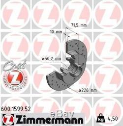 ZIMMERMANN Bremsscheiben gelocht Vorne & Hinten + Beläge für VW Golf 2 GTI G60
