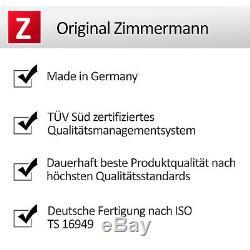 ZIMMERMANN SPORT BREMSEN SET + 4 BREMSSCHEIBEN 312/310mm + 8 BREMSBELÄGE + VO/HI