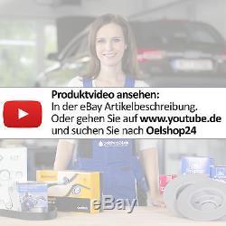 Zimmermann Bremsenset 4 Bremsscheiben + 8 Bremsbeläge Vorne+hinten Vw Golf 4 IV