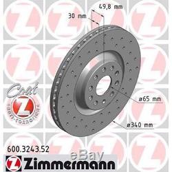 Zimmermann SPORT Bremsscheiben Beläge Wako AUDI S3 8V GOLF 7 GTI R vorne+hinten