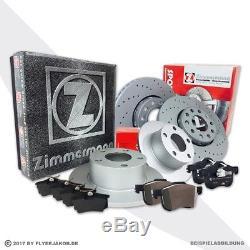 Zimmermann Sport Bremse Bremsen Bremsscheiben Vorne Hinten Vw Golf 5 1k1 2.0 Gti