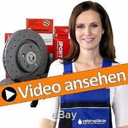 Zimmermann Sport Bremsen Kit Set 4 Bremsscheiben + 8 Beläge Vo+hi Vw Golf 4 Gti