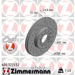 Zimmermann Sport-bremsscheiben + Beläge Vorne Vw Golf 7 Audi A3 8v Leon Octavia